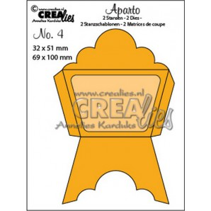 Crealies Aparto no. 4 - Mini Message 4 CLAP04 / 32x51mm - 69x100mm