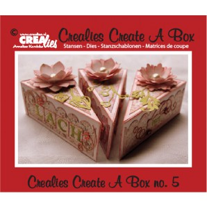 Crealies Create A Box no. 5 piece of cake 13,5 x 18,3 cm / CCAB05