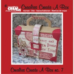 Crealies Create A Box no. 7 Suitcase 14,6 x 15,3 cm / CCAB07