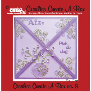 Crealies Create A Box no. 8 Card box 14,6 x 15,9 cm / CCAB08