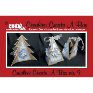 Crealies Create A Box no. 9 Driehoek kerstboom 14,3 x 16,9 cm / CCAB09 (09-16)