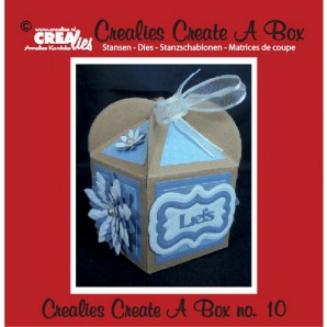 Crealies Create A Box no. 10 Fantasie doos 8,5 x 15,8 cm / CCAB10 (09-16)