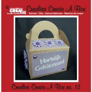 Crealies Create A Box no. 12 Doos met handvat 14,1 x 15,7 cm / CCAB12 (09-16)