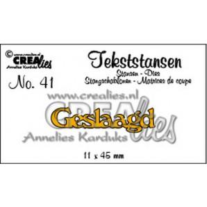 Crealies Tekststans no 41 Geslaagd (NL) 11 x 45 mm / CLTS41