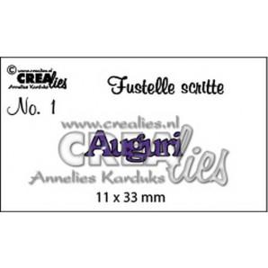 Crealies Tekststans (IT) nr 01  Auguri 11x33mm  / CLFS01