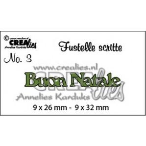 Crealies Tekststans (IT) nr 03  Buon Natale 9x26-9x32mm  / CLFS03