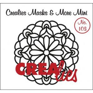 Crealies Masks & More Mini no. 103 Mandala C 105mm / CLMMM103 (04-17)