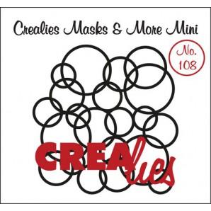 Crealies Masks & More Mini no. 108 In elkaar grijpende cirkels 104x107mm / CLMMM108 (04-17)