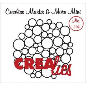 Crealies Masks & More Mini no. 114 overal cirkels 105x106 mm / CLMMM114 (07-17)