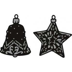Marianne D Craftable Tiny's ornaments star & bell CR1382 (09-16)