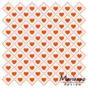 Marianne D Embossing folder Sweet hearts DF3432 14,5x19 cm (01-17)