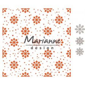 Marianne D Embossing folder Sneeuw en ijskristallen DF3440 (09-17) 15,2x15,4cm