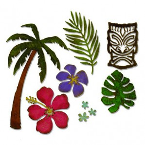 Sizzix Thinlits Die - Tropical 661207 Tim Holtz (09-16)