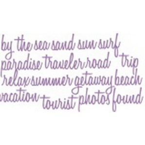 Sizzix Thinlits Die - Vacation Words Script 661288 Tim Holtz (09-16)