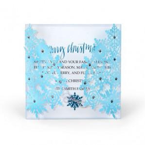 Sizzix Thinlits Die Set - Snowflake card 4PK 661547 (09-16)
