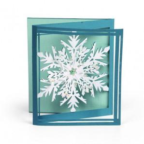 Sizzix Thinlits Die Set - Tri-fold card snowflake 8PK 661555 Lindsey Serata (09-16)