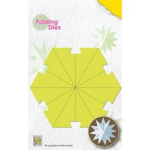 Nellies Choice Rosette Folding Die - kerstbal ster groot NFD016