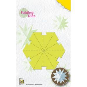 Nellies Choice Rosette Folding Die - kerstbal ster middel NFD017