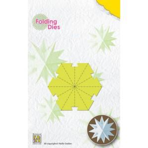 Nellies Choice Rosette Folding Die - kerstbal ster klein NFD018