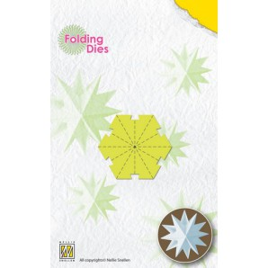 Nellies Choice Rosette Folding Die - kerstbal ster mini NFD019