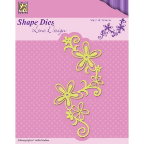 Nellies Choice Shape Die - Swirl & flowers SDL028 (08-16)