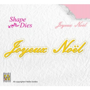 Nellies Choice Shape Die - FR - Joyeux Noël SD092