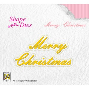 Nellies Choice Shape Die - ENG - Merry Christmas SD096