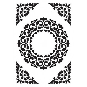 Nellie's Choice Embossing Folder Vintasia Ornament frame VINF007  106x150mm (10-16)