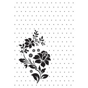Nellie's Choice Embossing Folder Vintasia Rose ornament VINF008  106x150mm (10-16)