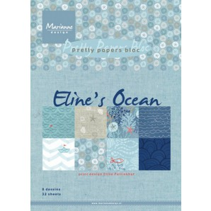 Marianne D Paper pad Eline's Ocean PB7052 15x21 cm (05-17)