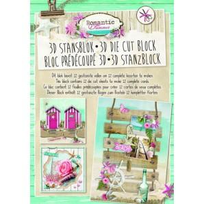 Studio Light Die cut blocs A4 12 vel Romantic Summer 29 STANSBLOKRS29