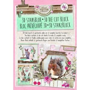 Studio Light Die cut blocs A4 12 vel Sweet Winter Season 34 STANSBLOKSWS34 (09-16)