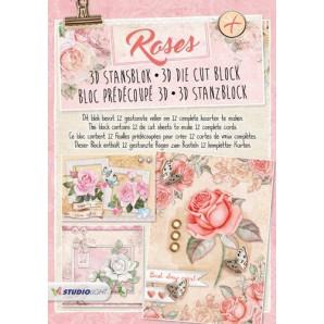 Studio Light Die cut blocs A4 12 vel Roses 41 STANSBLOKRO41 (01-17)