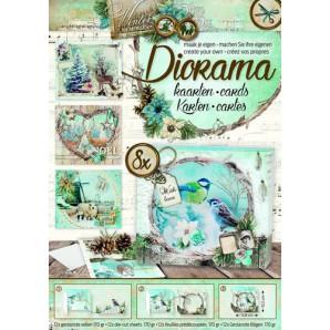 Studio Light Die cut blocs Diorama A4 12 vel Winter Memories 03 DIORAMABLOKWM03 (09-16)