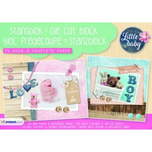 Studio Light Die cut blocs A5 12 vel Little Baby A5STANSBLOKSL01 (03-17)