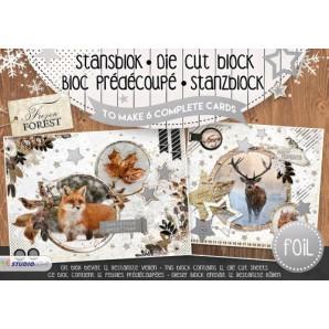 Studio Light Die cut blocs A5 folie 12 vel Frozen Forest A5STANSBLOKFF08 (06-17)