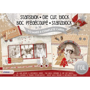 Studio Light Die cut blocs A5 folie 12 vel Nordic Winter A5STANSBLOKSL09 (06-17)
