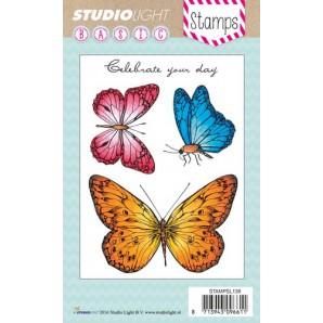 Studio Light Clearstempel A6 3 Vlinders nr 138 STAMPSL138 (07-16)