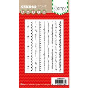 Studio Light Clearstempel A6 Kerst randen nr 154 STAMPSL154 (11-16)