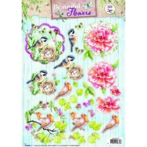 Studio Light Easy 3D Stansvel A4 Beautiful Flowers nr 523 EASYBF523 (new 05-16)