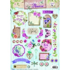 Studio Light Easy 3D Stansvel A4 Beautiful Flowers nr 525 EASYBF525 (new 05-16)