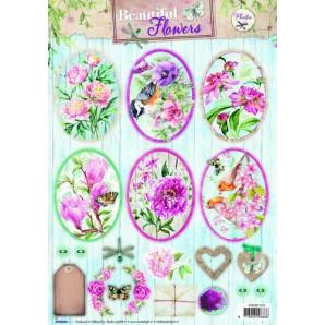 Studio Light Knipvellen 10vel A4 Beautiful Flowers 1370 STAPBF1370 (new 05-16)