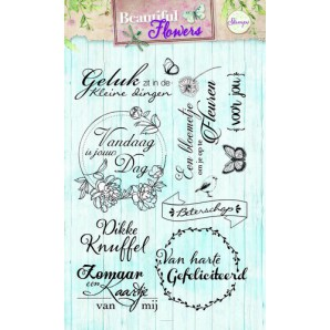 Studio Light Clearstempel A6 Beautiful Flowers nr 141 STAMPBF141 (new 05-16)