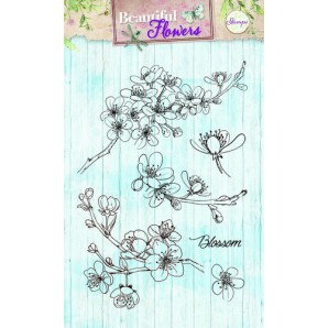Studio Light Clearstempel A6 Beautiful Flowers nr 142 STAMPBF142 (new 05-16)