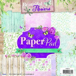 Studio Light Paper pad 36 vel 12 designs Beautiful Flowers nr 33 PPSL33 15x15cm (05-2016)