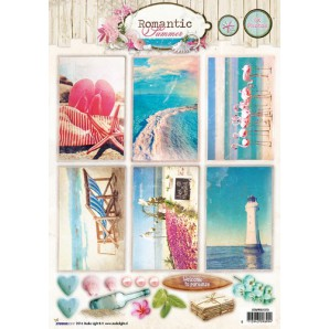 Studio Light Knipvellen 10vel A4 Romantic Summer 1373 STAPRS1373 (07-16)