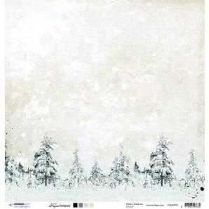 Studio Light Scrappapier 10vel 30,5x30,5 Frozen Forest 03 SCRAPFF03 (09-16)