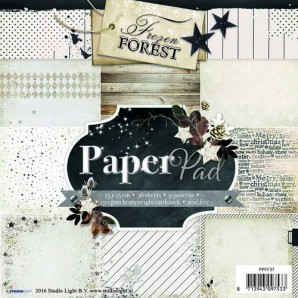 Studio Light Paper pad 36 vel 12 designs Frozen Forest nr 37 PPFF37 15x15cm (09-2016)