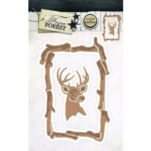 Studio Light Embossing Die Cut Stencil Frozen Forest nr 17 STENCILFF17 (09-16)