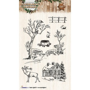 Studio Light Clearstempel A6 Woodland Winter nr 192 STAMPWW192 (07-17)